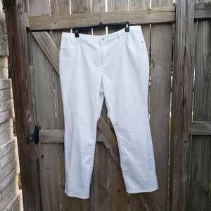 Coldwater creek white jeans size 20